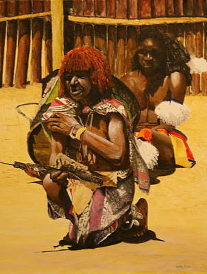 Painting - African Men by Betty-Anne McDonald