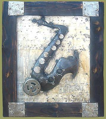 Welded Music Sculpture - African Music by Gift Masondo