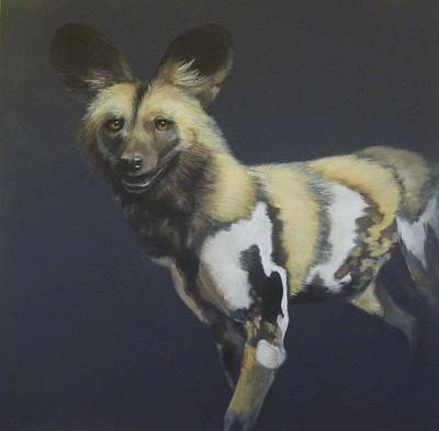 Painting - African Painted Dog-lycaon Pictus by Paula Wiegmink