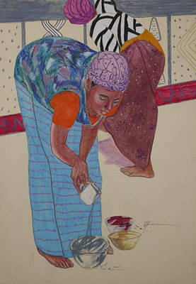 Painting - African Painters 1 by Pamela Mccabe