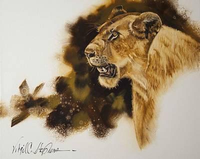 Virgil C Stephens Painting - African Queen by Virgil Stephens