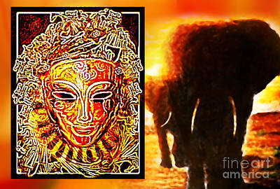 Art Print featuring the digital art African Spirit by Hartmut Jager