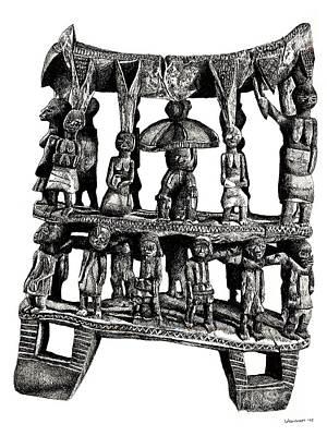 African Tribal Seat  Art Print by Adendorff Design