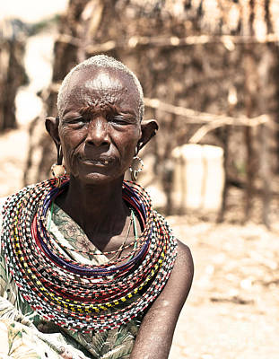 Photograph - African Tribal Woman by Anna Om