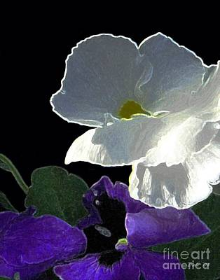 Digital Art - African Violets by Dale   Ford