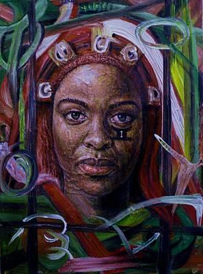 African Woman Art Print by Edward Ofosu