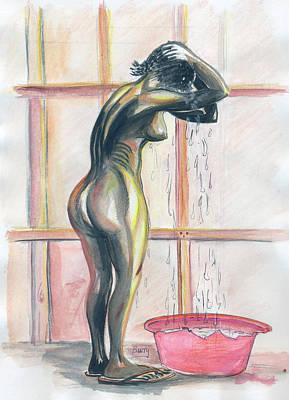African Woman Art Print by Emmanuel Baliyanga