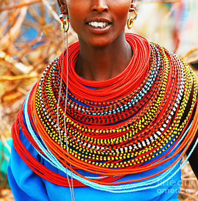 Photograph - African Woman With Traditional Accessories by Anna Om