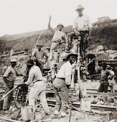 Afro-panamanian Construction Workers Art Print by Everett