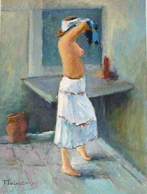 Painting - After A Bath by George Siaba
