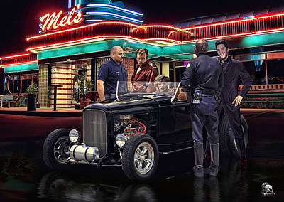 1950 Movies Digital Art - After All The Others Are Forgotten  by Rat Rod Studios