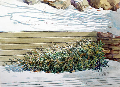 Painting - After Christmas by Peter Sit