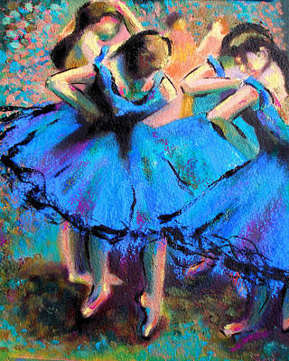 Ballroom Painting - After Master Degas-my Own Version by Susi Franco