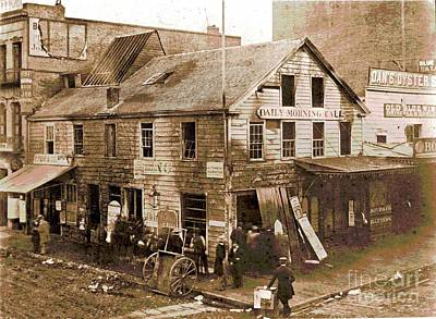 Boyd Photograph - After The 1859 San Francisco Fire by Padre Art