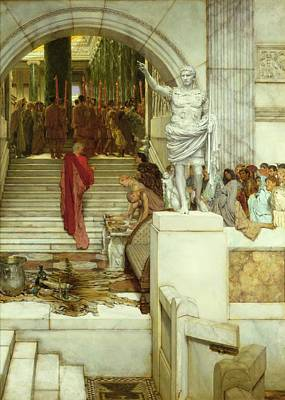 Crowds Painting - After The Audience by Sir Lawrence Alma-Tadema