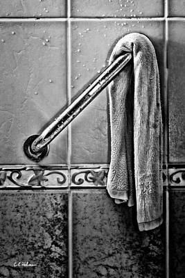 After The Shower - Bw Art Print by Christopher Holmes