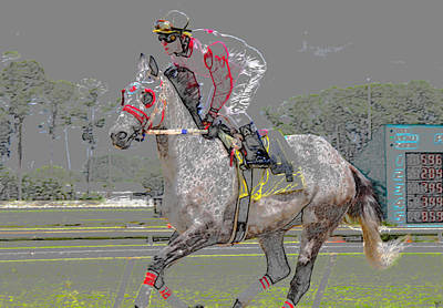 Animal Tracks Digital Art - After The Win by David Lee Thompson