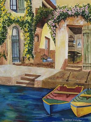 Piazzo Painting - Afternoon At The Piazzo by Kimberlee Weisker