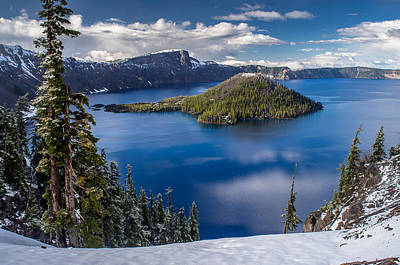 Afternoon Clearing At Crater Lake Art Print by Greg Nyquist