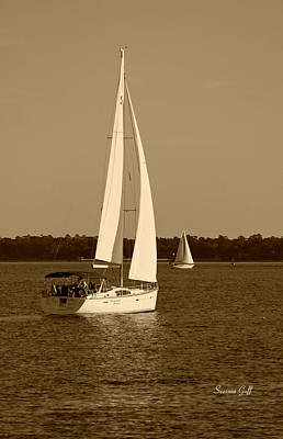 Photograph - Afternoon For Sailing In Sepia by Suzanne Gaff