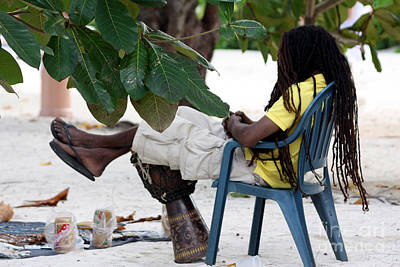 Bongo Photograph - Afternoon In Jamaica by Marjorie Imbeau