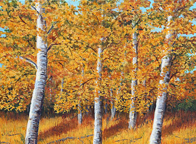 Painting - Afternoon In The Aspens by Lorraine Foster
