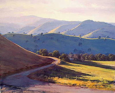 Shed Painting - Afternoon Light Kanimbla Valley by Graham Gercken