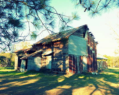 Abandoned Photograph - Afternoon Light On Barn by Carla Parris