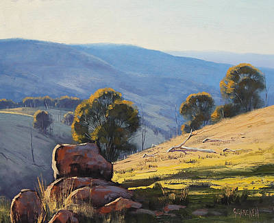Impressionism Paintings - Afternoon Light Turon Hills by Graham Gercken
