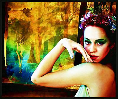 Digital Art - Afternoon Of A Wood Nymph by Mary Morawska