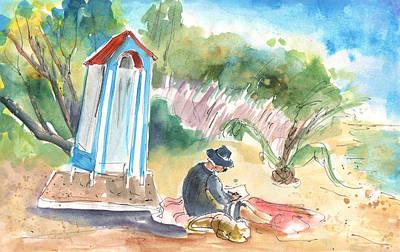 Painting - Afternoon On A Cretan Beach by Miki De Goodaboom