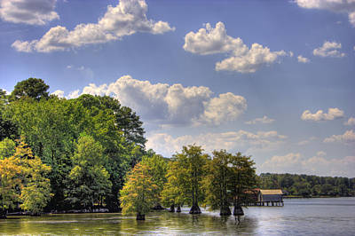 Crappie Digital Art - Afternoon On Cross Lake by Barry Jones