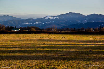 Art Print featuring the photograph Afternoon Shadows Across A Rogue Valley Farm by Mick Anderson