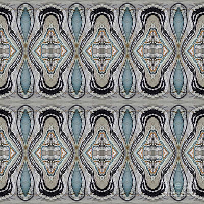 Painting - Agate-38e Border Tiled by Sue Duda
