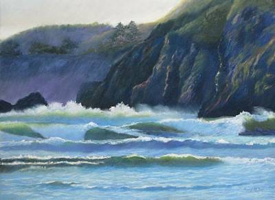 Painting - Agate Beach Surf by Boyd Miller