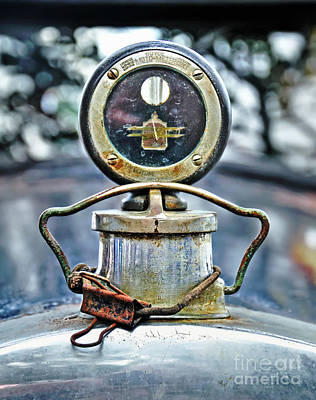 Photograph - Aged Boyce Moto-meter With Added Paper Clip by Kaye Menner