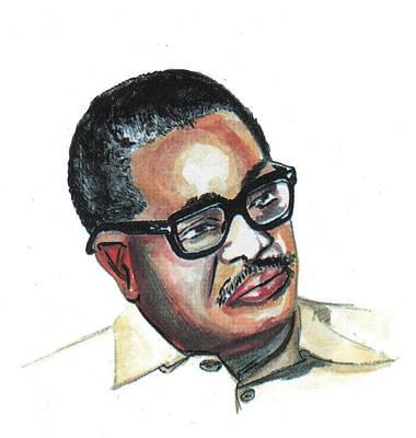 Agostinho Neto Art Print by Emmanuel Baliyanga