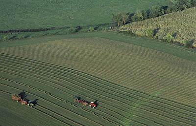 Agricultural Aerial View Print by Kenneth Garrett