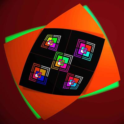 Processor Digital Art - Ai Bow Tie by Charles Stuart