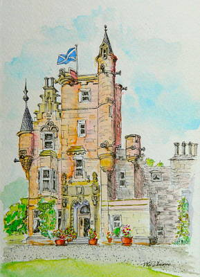 Painting - Aigas House Scotland by Vic Delnore