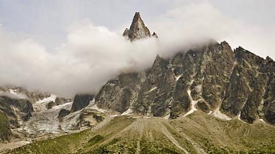 Aiguille Du Dru In Mont Blanc Massif Art Print by David Pérez