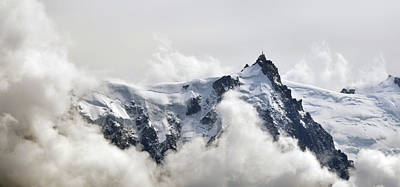 Aiguille Du Midi Out Of Clouds Art Print by Thomas Pollin