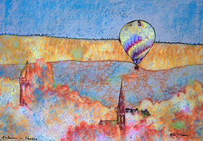 Air Balloon Over Peeebles Art Print by Richard James Digance
