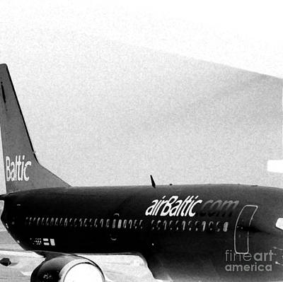 Photograph - Air Baltic. Sketch. Square Format. by Ausra Huntington nee Paulauskaite