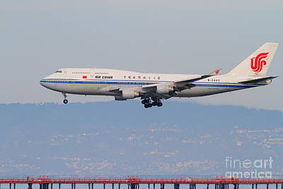 Air China Airlines Jet Airplane At San Francisco International Airport Sfo . 7d12272 Art Print by Wingsdomain Art and Photography