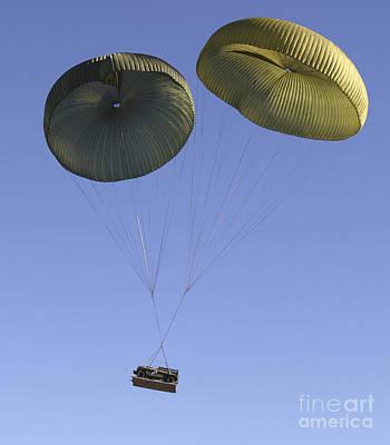 Air Delivery Platoon Drops Heavy Art Print