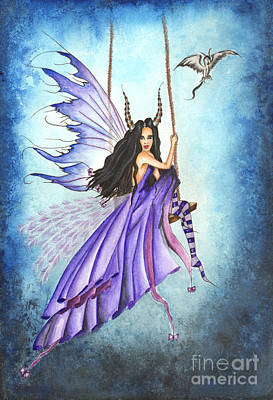 Dragon Painting - Air Fairy by Alysa Fioretzi