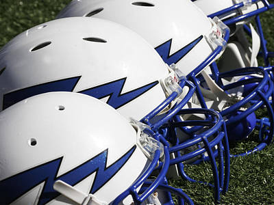 Photograph - Air Force Falcons Helmets by GerMaine Photography