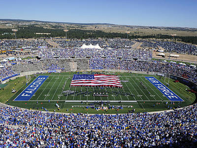 Photograph - Air Force Game Day At Falcon Stadium by Air Force Academy