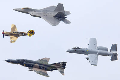 Curtis Martin Photograph - Air Force Heritage Flight Luke Afb March 19 2011 by Brian Lockett